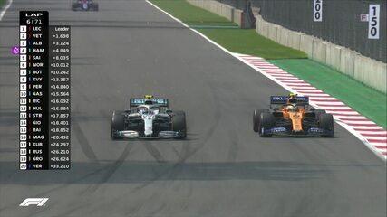 Bottas ultrapassa Norris e é o sexto colocado