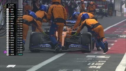 Norris tem a corrida comprometida após equipe deixar roda mal fixada