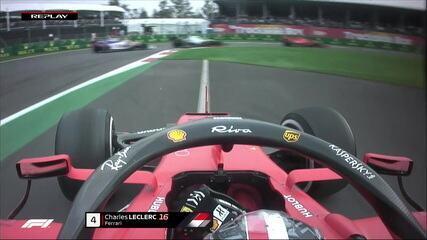 Leclerc dá escapada e perde tempo na perseguição a Bottas