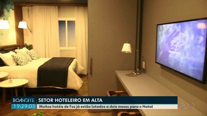 Muitos hotéis de Foz já estão lotados a menos dois meses para o Natal