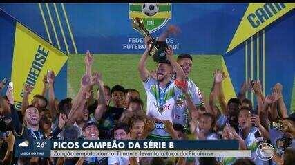 Picos empata com o Timon e conquista título da Série B do campeonato piauiense