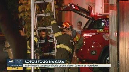 Morador é detido por suspeita de atear fogo a residência em Ribeirão Preto