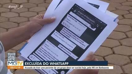 Agente de saúde que excluiu mulher de grupo de WhatsApp em Ressaquinha é ouvida pelo MP