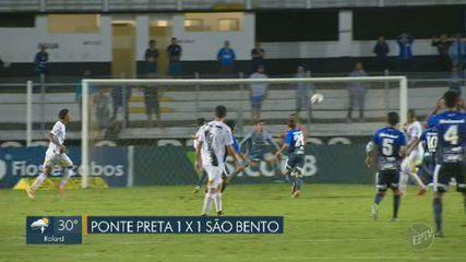 Ponte Preta empata com lanterna e chega ao sexto jogo seguido sem vitória
