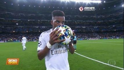 Liga dos Campeões: Rodrygo brilha no Real, e lateral do City vai para o gol