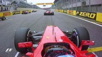 Ultrapassagem dupla de Alonso em Webber e Massa no GP do Brasil de 2012