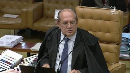 Ministro Gilmar Mendes vota contra a prisão de condenados em 2ª instância