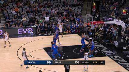 Melhores momentos: San Antonio Spurs 121 x 112 Oklahoma City Thunder, pela NBA