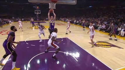 Melhores momentos: Los Angeles Lakers 95 x 80 Miami Heat pela NBA