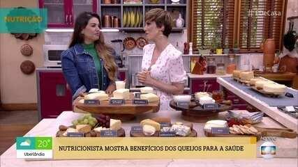 Nutricionista mostra os benefícios dos queijos para a saúde