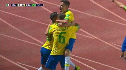 Os gols de Brasil 2x0 Itália pelas quartas de final do Mundial Sub-17, o último jogo do Brasil
