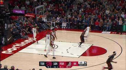 Melhores momentos: Raptors 114 x 106 Trail Blazers pela NBA