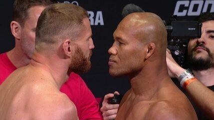 Pesagem do UFC São Paulo: Jan Blachowicz x Ronaldo Jacaré pelo peso meio-pesado