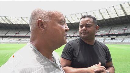 Reinaldo encontra o segurança hostilizado pelo torcedor do Atlético MG