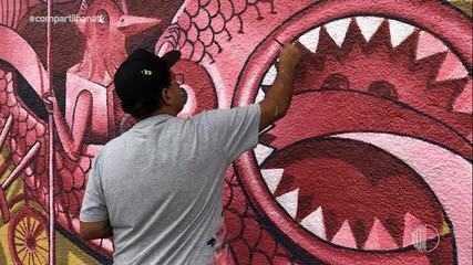 Conheça o trabalho do grafiteiro Galo