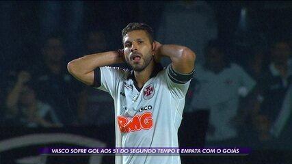 Gol contra no fim tira vitória do Vasco sobre o Goiás em São Januário