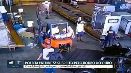 Polícia prende mais um suspeito de participar de roubo de ouro em Cumbica