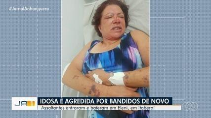 Idosa é agredida por assaltantes pela segunda vez em Itaberaí