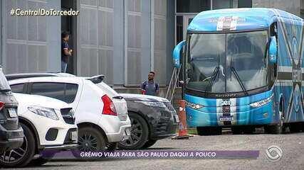Grêmio embarca para São Paulo nesta sábado (23) para enfrentar o Palmeiras