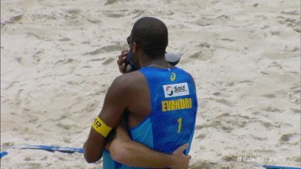 Pontos finais: Evandro/Bruno 2 x 0 Alison/Alvaro Filho pela final do Circuito Brasileiro de Vôlei de Praia