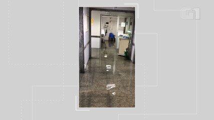 Água da chuva invade hospitais de Salvador nesta terça-feira