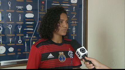 Lu Meireles, ex-Botafogo-PB, conta a sua experiência no time feminino do Flamengo