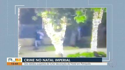 Suspeitos de vandalizar decoração do Natal Imperial são detidos em Petrópolis, no RJ