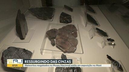 Meteoritos do Museu Nacional estão em exposição no Museu de Astronomia