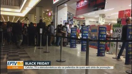 Celular, TV e eletrodomésticos são itens mais procurados na Black Friday em Ribeirão Preto