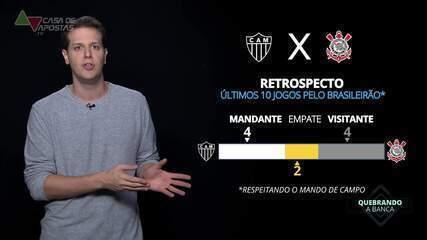 Central de Estatísticas vê tendência de vitória do Corinthians contra o Atlético-MG