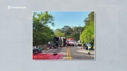 Integrantes do Athenas Rugby Itanhaém sofrem grave acidente com ônibus