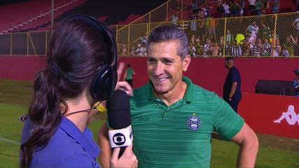 Jorginho fala sobre o acesso do Coritiba e lembra do primeiro técnico Umberto Louzer
