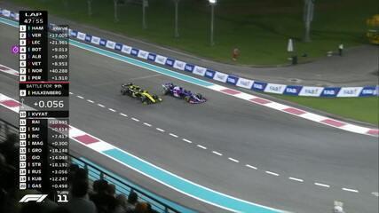 Kvyat coloca por dentro e passa Hulkenberg para chegar a 9ª posição