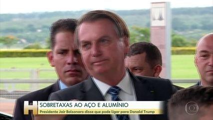 Bolsonaro diz que não vê taxação do aço pelos EUA como retaliação