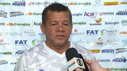 Jacozinho fala sobre a derrota do CSA para a Chapecoense na Arena Condá