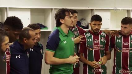 Preleção de Matheus Ferraz chama atenção em vitória do Fluminense sobre o São Paulo