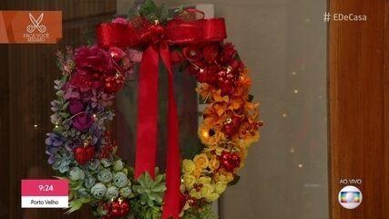 Aprenda a fazer uma guirlanda florida para o Natal