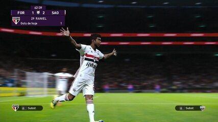 Os gols de Fortaleza 1 x 2 São Paulo pelo jogo de ida do e-Brasileirão