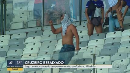 Torcida briga, invade campo e polícia usa bomba de gás em partida de Cruzeiro e Palmeiras