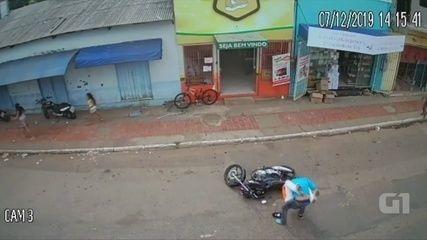 Assaltante tenta roubar açougue e é detido por populares