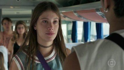 Anjinha implora para Cléber não ir embora