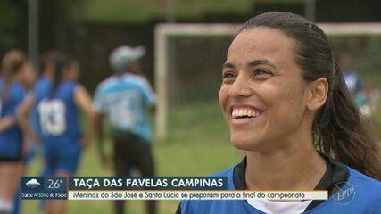 Meninas do São José e Santa Lúcia se preparam para a final da Taça das Favelas