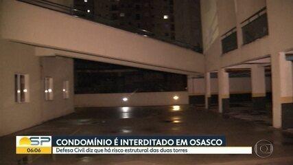 Condomínio é interditado em osasco por risco estrutural em duas torres
