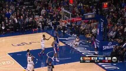 Melhores momentos: Philadelphia 76ers 97 x 92 Denver Nuggets, pela NBA