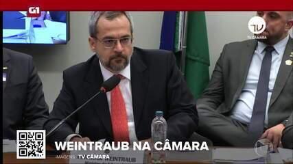 G1 em 1 Minuto: Weintraub reafirma na Câmara que há produção de drogas em universidades