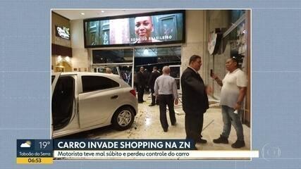 Homem tem mal súbito e entra com carro no shopping Center Norte