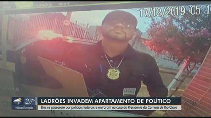 Ladrões passam por policiais federais e assaltam casa do presidente da Câmara de Rio Claro