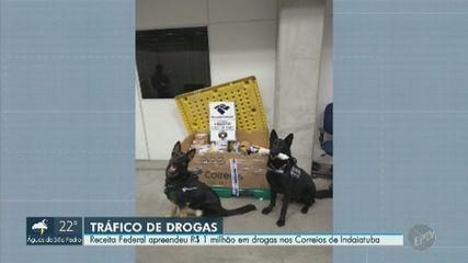 Receita apreende R$ 1 milhão em drogas em Distribuição dos Correios em Indaiatuba