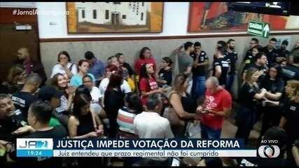 Justiça impede votação da reforma da previdência em Goiás