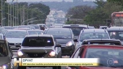 STF suspende medida provisória que acabava com o seguro obrigatório, o DPVAT